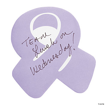 Purple Ribbon Sticky Notes