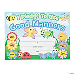 """Garden of Good Manners"" Pledge Certificates"