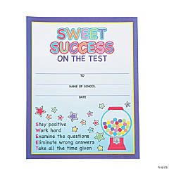 """Sweet Success"" Test Completion Certificates"