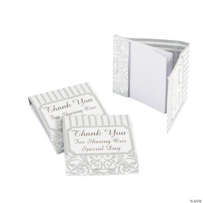 Silver Swirls Matchbook Notepads
