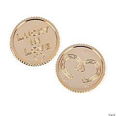 """Lucky In Love"" Gold Coins"