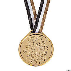 "Plastic ""Shoot For the Stars"" Molded Medals"
