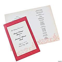 Red On Red Wedding Programs