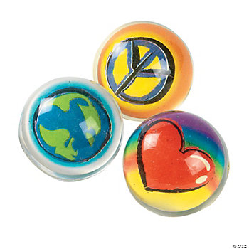 Peace, Love & Earth Bouncing Balls