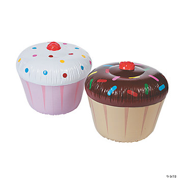Inflatable Cupcakes Oriental Trading