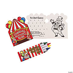 Carnival Activity Book With Crayons