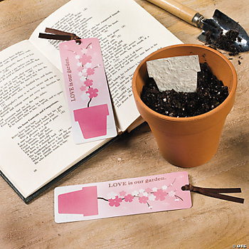 """Love"" Flowerpot Seeded Bookmarks"