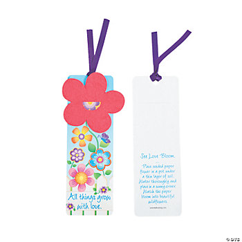 Flower Seeded Bookmarks