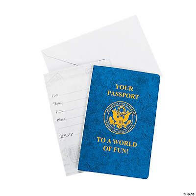 """Passport To Fun"" Invitations"