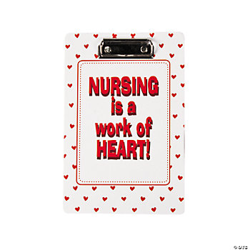 """Nursing Is A Work Of Heart"" Clipboards"