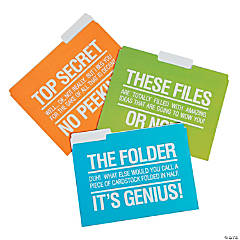Office Humor File Folders