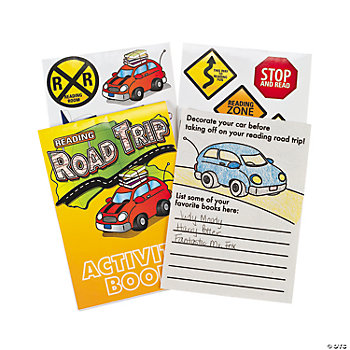 """Road Trip"" Activity Book With Stickers"