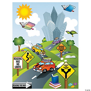 Reading Road Trip Make-A-Sticker Scenes