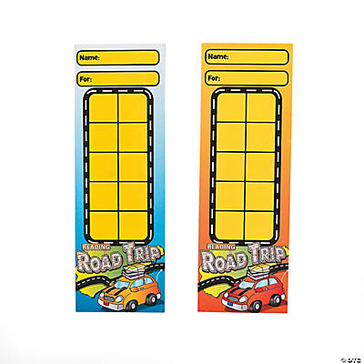 """Reading Road Trip"" Goal Bookmarks"