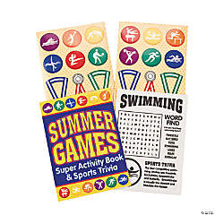 Olympian Summer Games Activity Books With Stickers