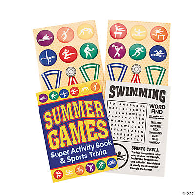 Olympic Games Activity Books with Stickers