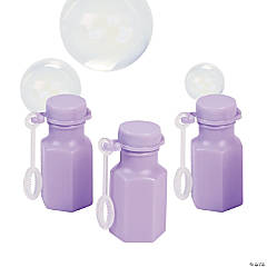 Hexagon Lilac Bubble Bottles