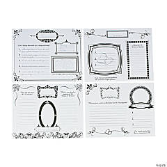 Wedding Doodle Place Mats For Adults