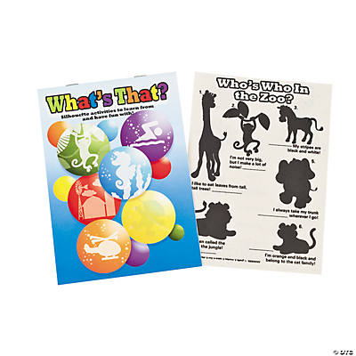 Black Silhouette Activity Book