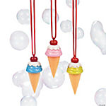 Plastic Ice Cream Cone Bubble Bottle Necklaces