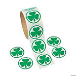 St. Patrick's Day Shamrock Roll of Stickers