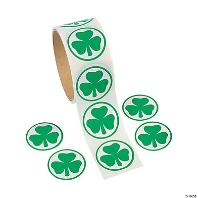 St. Patrick's Day Shamrock Stickers