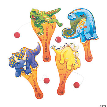 12 Dinosaur Paddleball Games