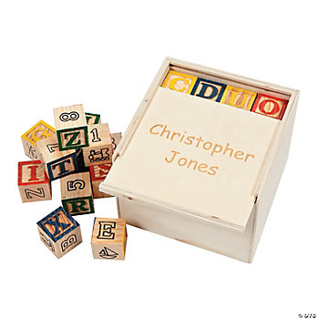 Personalized Box With Blocks