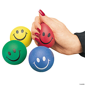 Smile Face Relaxable Squeeze Balls