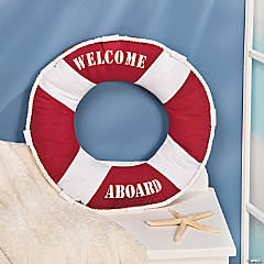 Round Nautical Pillow