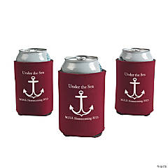 Personalized Burgundy Anchor Can Covers