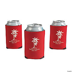 Red Personalized Luau Can Covers