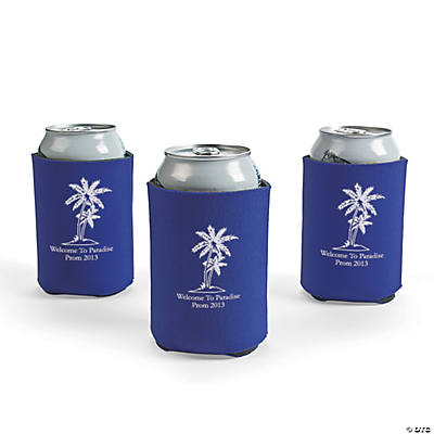 Personalized Purple Luau Can Covers