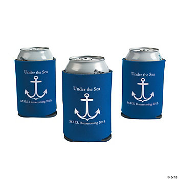 Personalized Blue Anchor Can Covers
