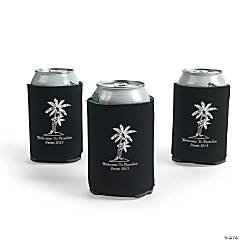 Personalized Black Luau Can Covers