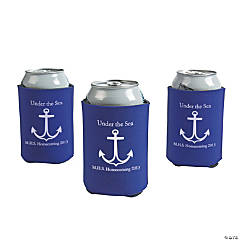 Personalized Purple Anchor Can Covers