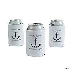 Personalized White Anchor Can Covers