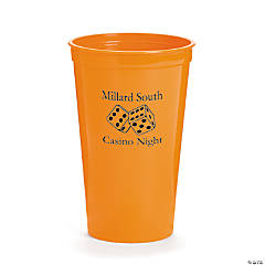 Orange Personalized Casino Tumblers