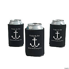 Personalized Black Anchor Can Covers