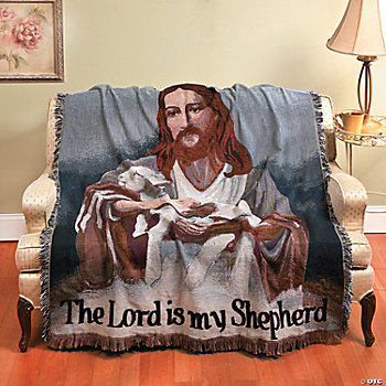 """The Lord Is My Shepherd"" Throw"