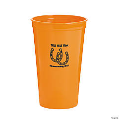 Orange Personalized Horseshoe Tumblers
