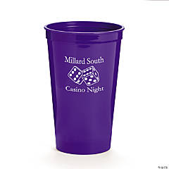 Purple Personalized Casino Tumblers