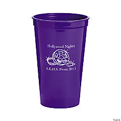 Purple Personalized Movie Night Tumblers