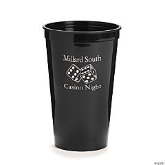 Black Personalized Casino Tumblers