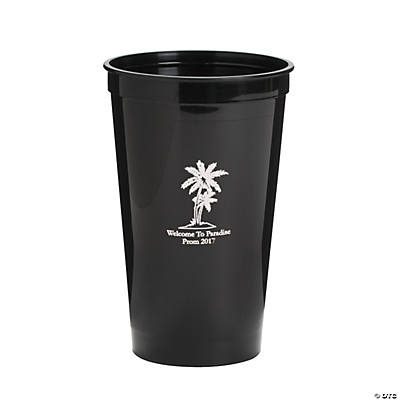 Personalized Black Luau Tumblers