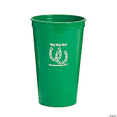 Green Personalized Horseshoe Tumblers