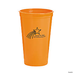 Personalized Orange Shooting Star Tumblers