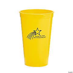 Personalized Yellow Shooting Star Tumblers