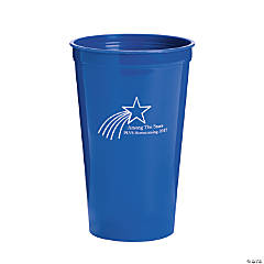 Personalized Blue Shooting Star Tumblers