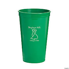 Personalized Green Prom Couple Tumblers